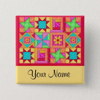 Pin's Goupilles colorées d'art de bloc d'édredon de
