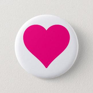 Pin's Grand coeur rose personnalisé d'amour
