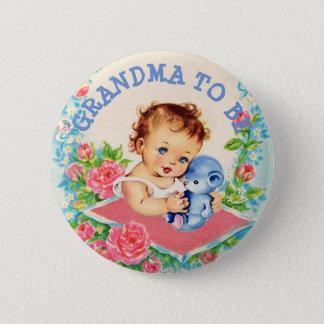 Pin's Grand-maman à être bébé de cru de bouton de baby
