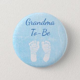 Pin's Grand-maman de bébé bleu à être bouton de baby