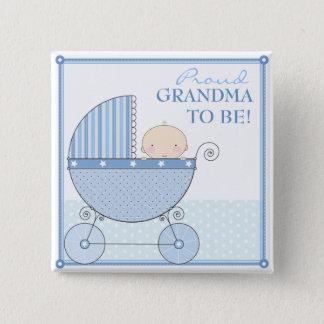 Pin's Grand-maman fière à être chariot doux de bleu de