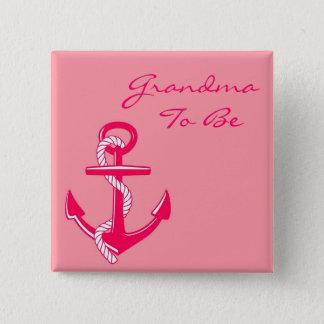 Pin's Grand-maman nautique rose à être Pin d'ancre