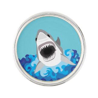 Pin's Grande bande dessinée drôle de requin blanc
