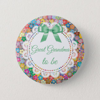 Pin's Grande grand-maman à être bouton floral de baby