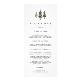 Pins grands épousant la carte de menu carte double