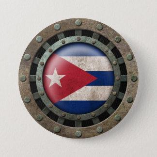 Pin's Graphique cubain en acier industriel de disque de