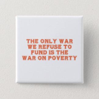 """Pin's """"Guerre bouton sur pauvreté"""""""
