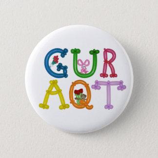 """Pin's GURAQT 4"""" bouton rond d'animal de ballon"""