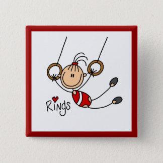 Pin's Gymnaste sur des anneaux