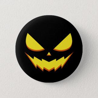 Pin's Halloween - bouton de visage de citrouille