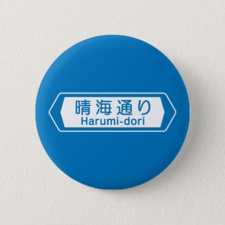 Pin's Harumi-dori, plaque de rue de Tokyo
