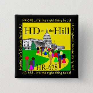 Pin's HD sur le bouton de colline