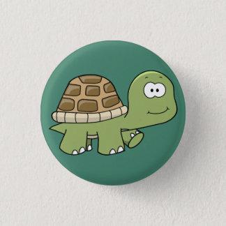 Pin's Heureux sautent le bouton chanceux de tortue