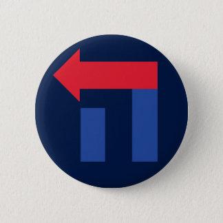 Pin's Hillary bleue et rouge dans le bouton hébreu