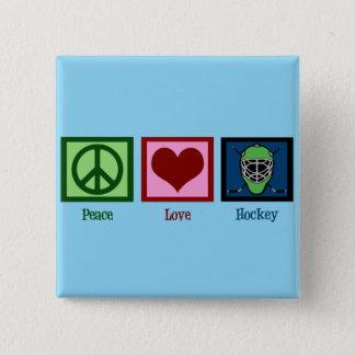 Pin's Hockey d'amour de paix (masque de gardien de but)