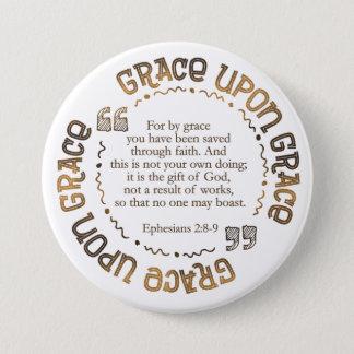 """Pin's """"Honorez bouton rond sur grâce"""" (2:8 d'Ephesians -"""