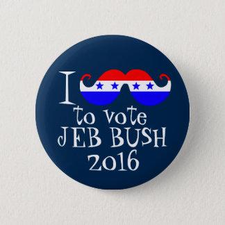 Pin's I moustache vous pour voter Jeb Bush 2016