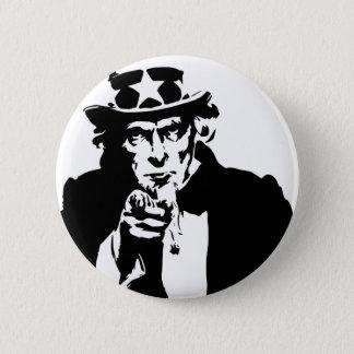 Pin's Icône noire et blanche d'Oncle Sam
