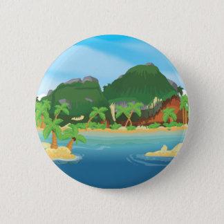 Pin's Île tropicale de trésor