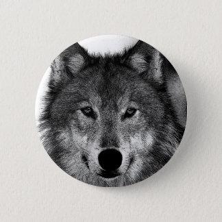 Pin's Illustration de loup noir et blanc