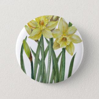 Pin's Illustration de portrait de fleur de jonquilles