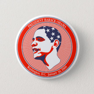 Pin's Inauguration d'Obama dans blanc et bleu rouges