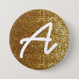 Pin's initiale personnalisée d'or girly