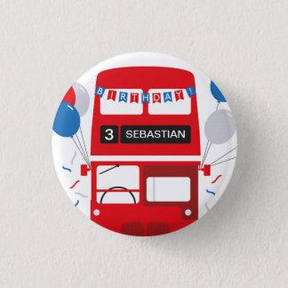 Pin's Insigne d'anniversaire personnalisé par autobus