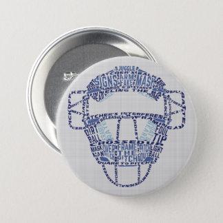 Pin's Insigne de Calligram de masque de receveurs du