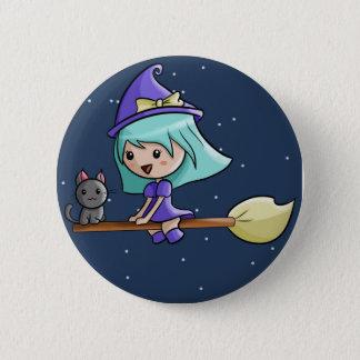 Pin's Insigne de sorcière de Kawaii