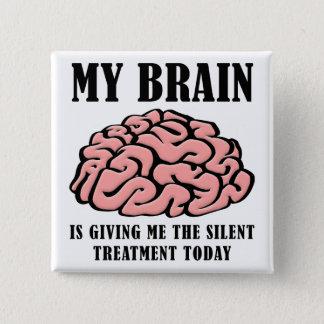 Pin's Insigne drôle de bouton d'indifférence de cerveau