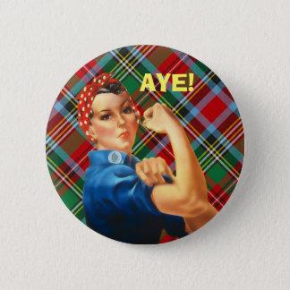 Pin's Insigne écossais de Rosie de tartan de