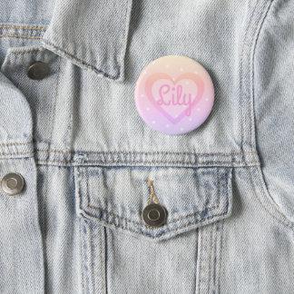 Pin's Insigne personnalisable de coeur assez rose