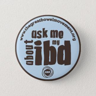 Pin's Interrogez-moi au sujet de mon bouton d'IBD - bleu