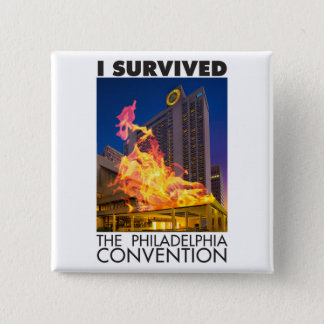 Pin's J'ai survécu au bouton de convention de