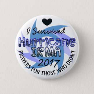 Pin's J'ai survécu au bouton de prières d'IRMA 2017