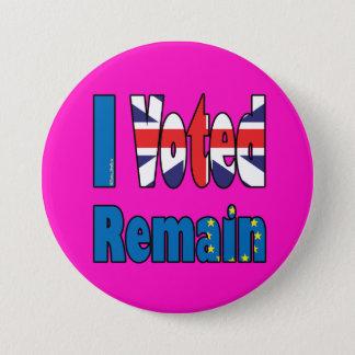 Pin's J'ai voté reste - référendum Brexit d'UE