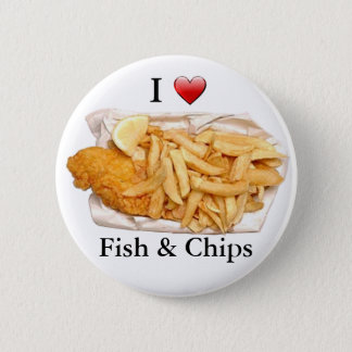 Pin's J'aime des poisson-frites
