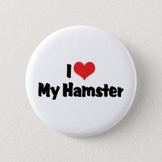 Pin's J'aime le coeur mon hamster