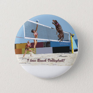 Pin's J'aime le volleyball de plage