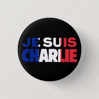 Pin's Je Suis Charlie - je suis Charlie tricolore de la