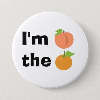Pin's Je suis pêche l'orange