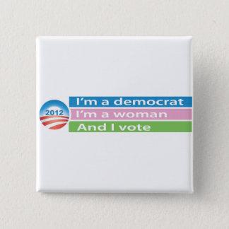 Pin's Je suis une femme et je vote !