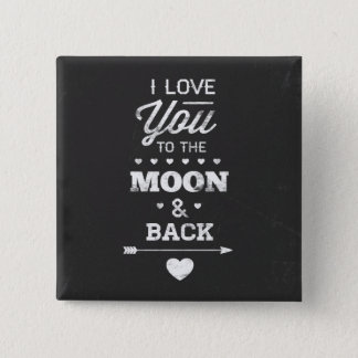 Pin's Je t'aime à la lune et au dos