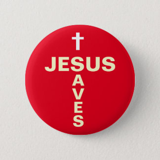 Pin's Jésus sauve le bouton/insigne de évangélisation