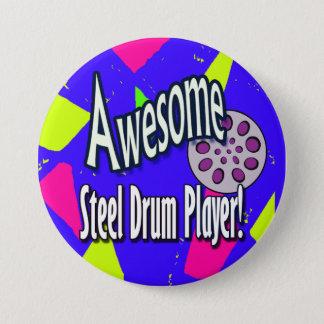 Pin's Joueur impressionnant de tambour métallique