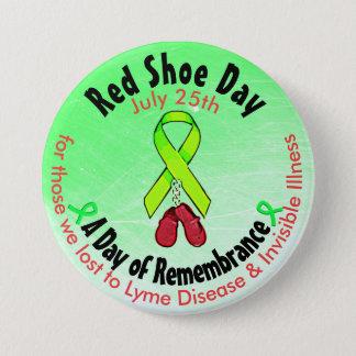 Pin's Jour rouge personnalisé de chaussure, dans le