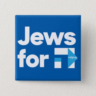 Pin's Juifs pour le bouton carré de Hillary