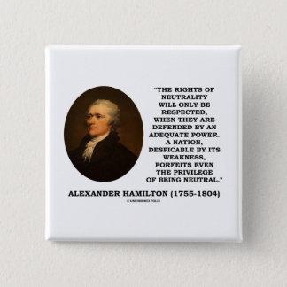 Pin's Juste d'Alexander Hamilton de puissance de