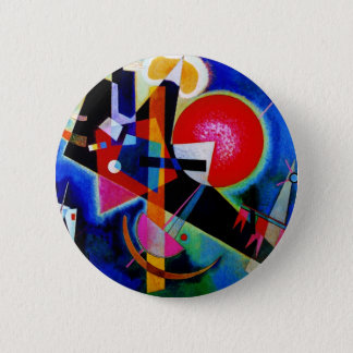 Pin's Kandinsky dans la peinture d'abrégé sur bleu